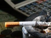 cigarette and calculator
